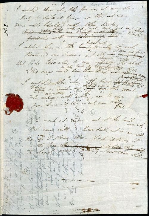 último poema de byron 'Love and Death' 1824