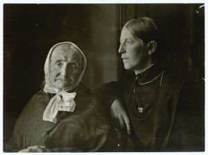 Anna Archer with her mother